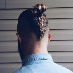 V-Shaped Skin Fade + Braided Ponytail